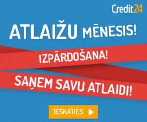 Credit24 Kredītlīnija 30 dienas BEZ MAKSAS!