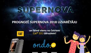 Ondo.lv akcija – prognozē Supernova 2018 uzvarētāju un laimē!