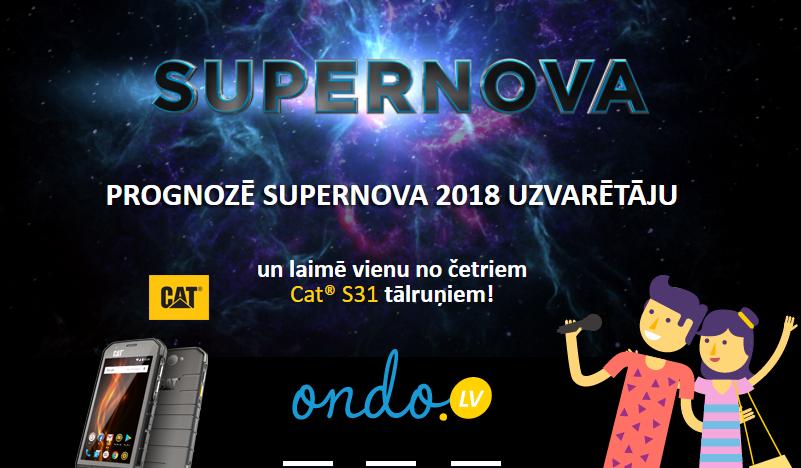 Ondo.lv akcija - Supernova 2018